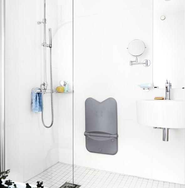 si ge de douche mural design escamotable etac relax vivetis. Black Bedroom Furniture Sets. Home Design Ideas