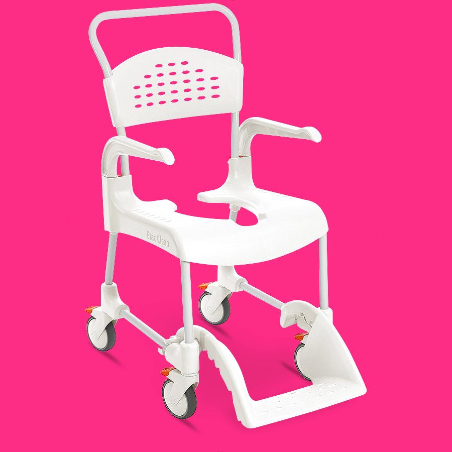 chaise de douche mobile etac clean hauteurs d 39 assise 44 cm et 60 cm vivetis. Black Bedroom Furniture Sets. Home Design Ideas